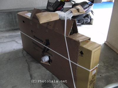 自転車の 自転車を送る箱 : ネットで自転車を購入する ...